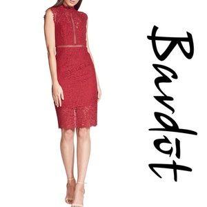 Bardot Lace Sheath Cocktail Dress